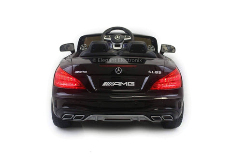 Image of Licensed Mercedes AMG with Touchscreen TV and Remote Control 12V | Black - Elegant Electronix