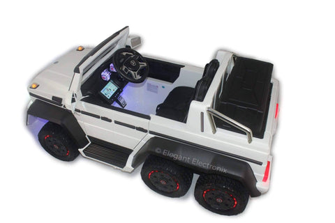 Image of Licensed Mercedes Benz AMG G63 6x6 Truck with Parental Remote Control - Elegant Electronix