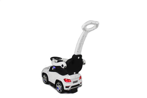 Licensed Mercedes Benz Push Ride on Cars | White - Elegant Electronix