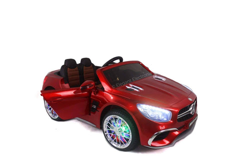 Image of Licensed Metallic Mercedes AMG with Touch Screen TV and Remote Control 12V | Candy Apple Red - Elegant Electronix
