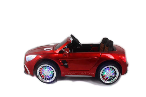 Licensed Metallic Mercedes AMG with Touch Screen TV and Remote Control 12V | Candy Apple Red - Elegant Electronix