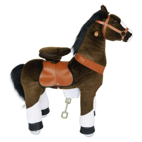 Image of Ride on Horse with Sounds | Dark Brown - Elegant Electronix
