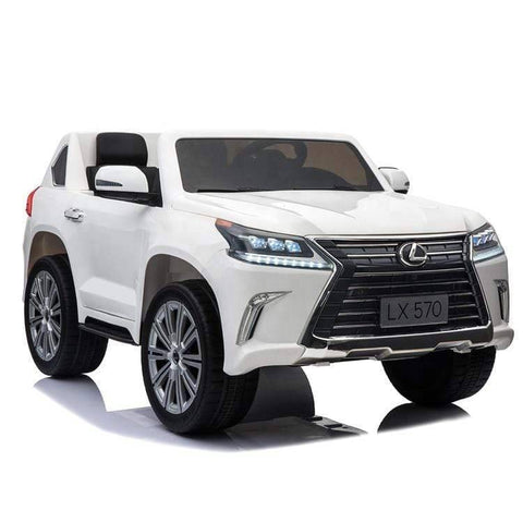 Image of Licensed 24V Lexus LX570 with Touchscreen TV and Parental Remote | White