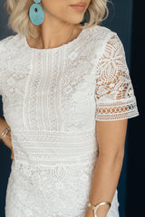 Zall Crochet Dress - Off White