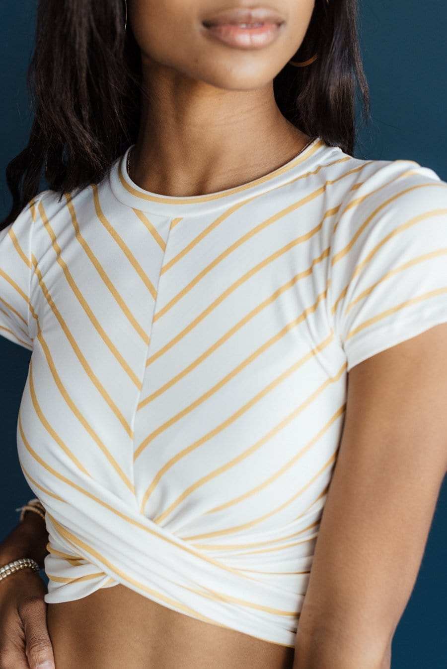 Simply Striped Top - Mustard Stripes