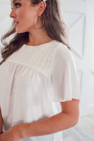 Crystals Blouse - Ivory