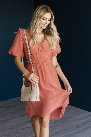 Kensly Ribbed Dress - Light Mauve