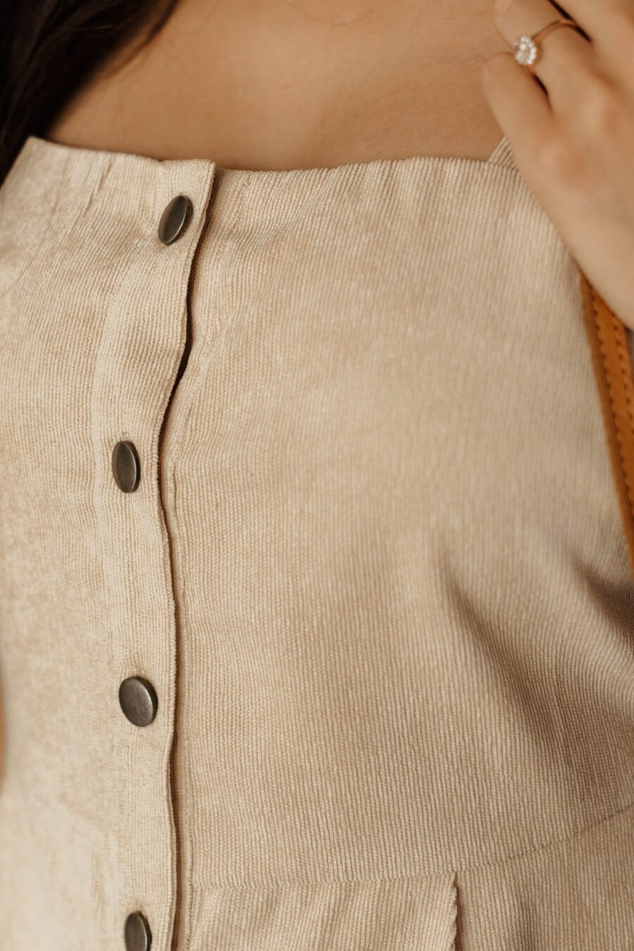 Century Corduroy Dress - Beige