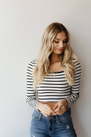 Sooner Stripe Crop Top