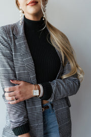 Frey Plaid Blazer
