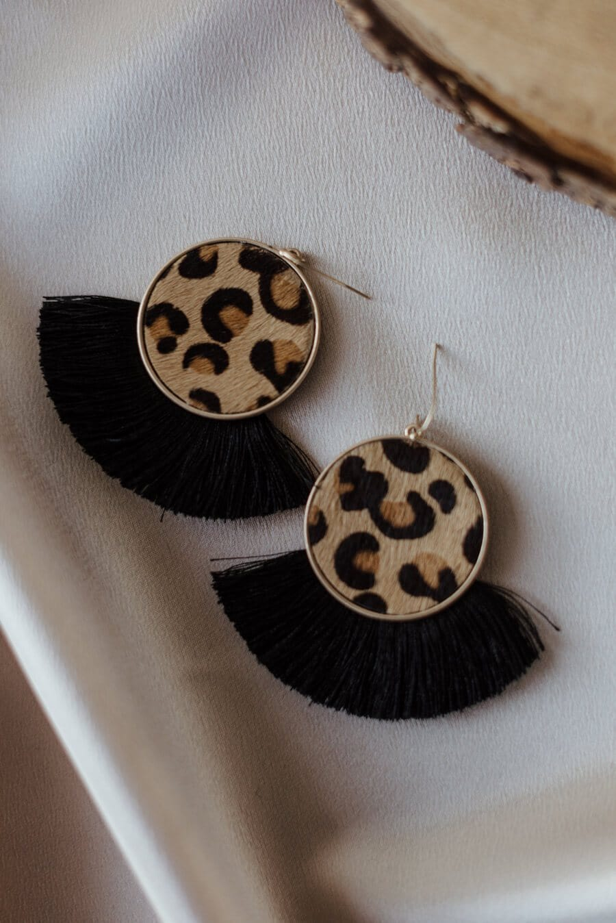 Keelyn Cheetah Tassel Earrings