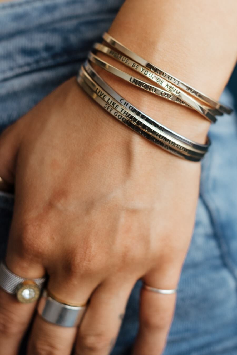 Choose Joy Bracelet - Silver