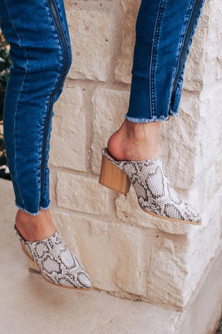 Grace Leather Mules