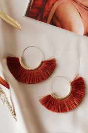 Winnie Tassel Hoop Earrings