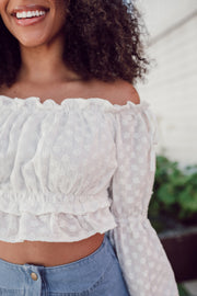 Daisy Embroidery Blouse