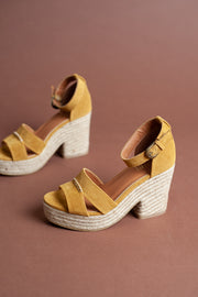 Lynn Leather Espadrille Heels