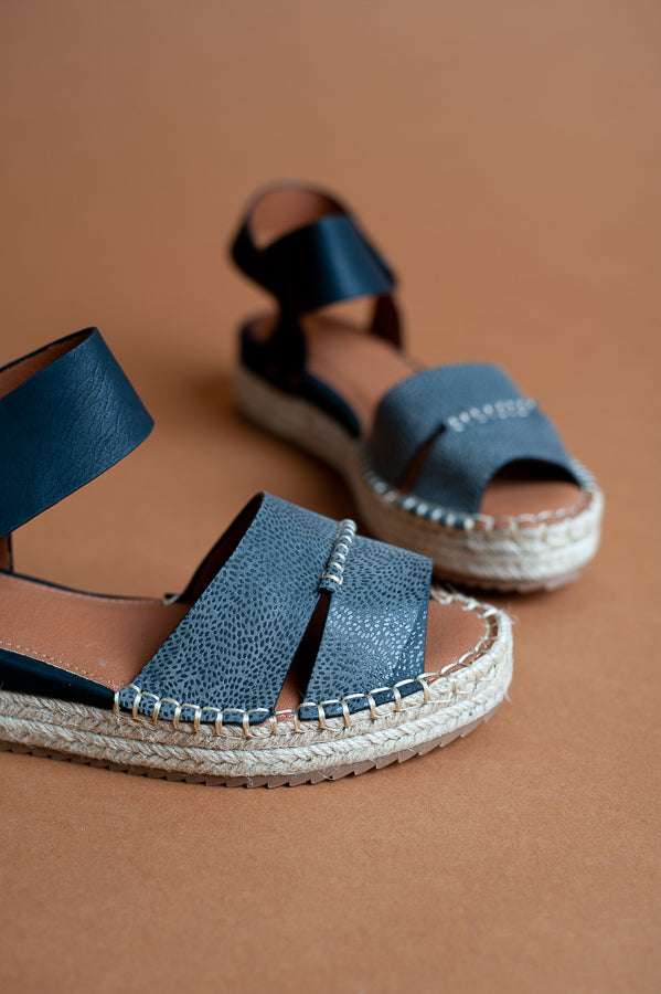Amber Leather Espadrille Sandals