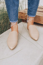 Saffron Leather Mules