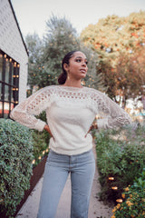 Laurie Faux Angora Sweater