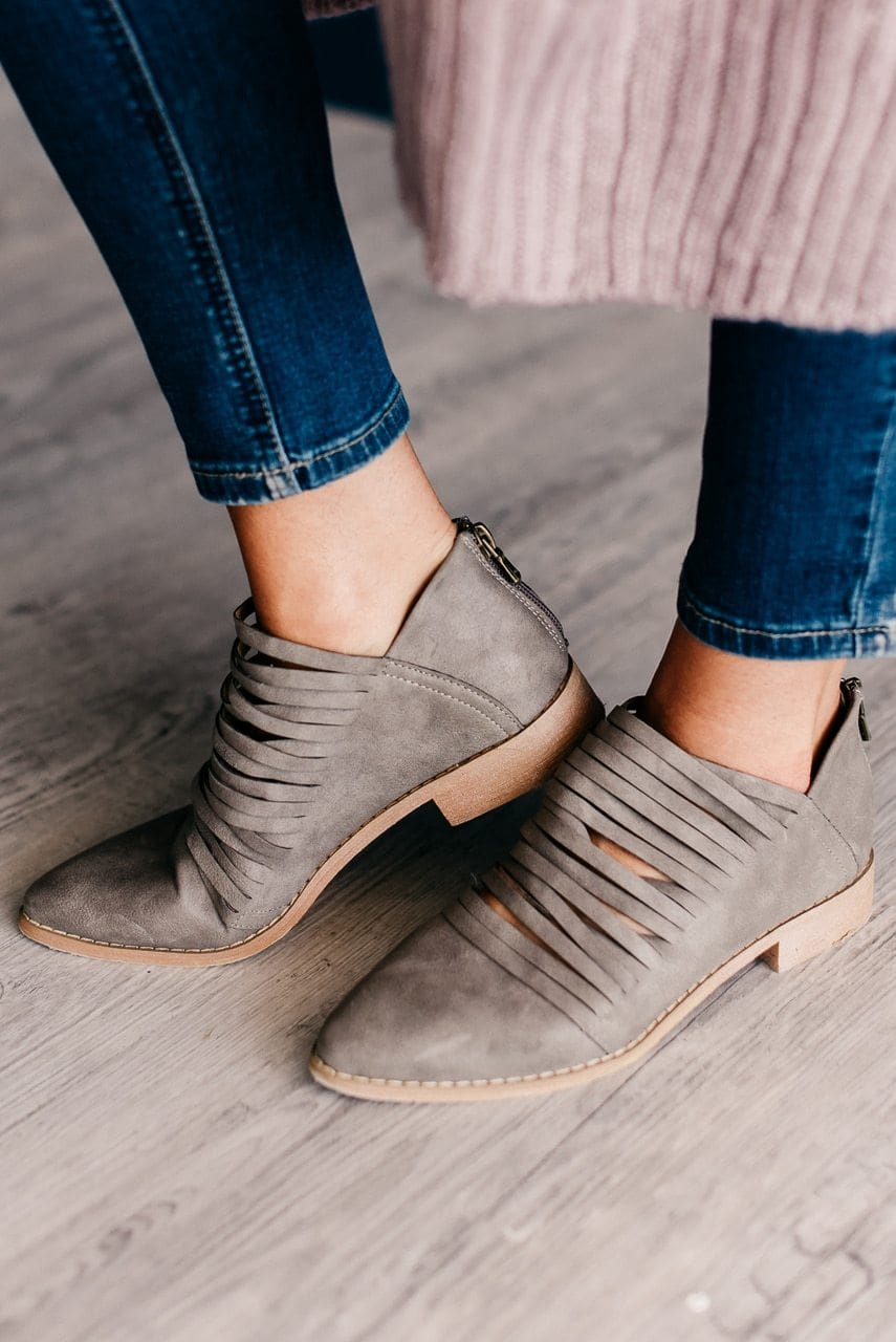 Freesoul Booties - Grey
