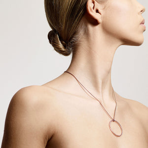 Necklace : Beauty : Rose Gold Plated : Crystal
