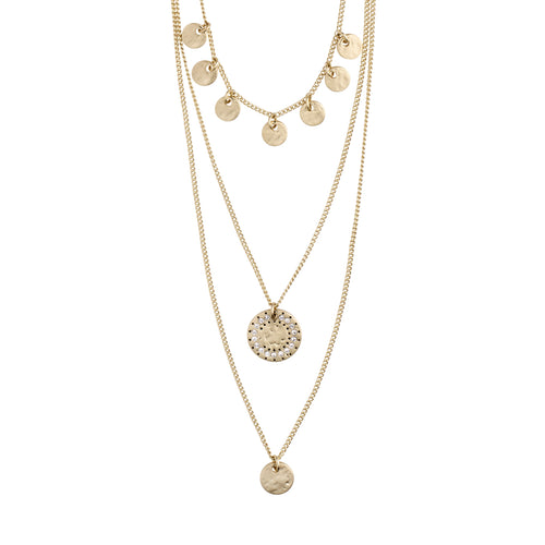 Necklace : Arden : Gold Plated : Crystal