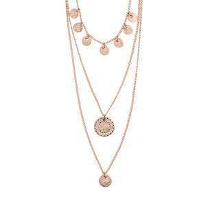 Necklace : Arden_PI : Rose Gold Plated : Crystal