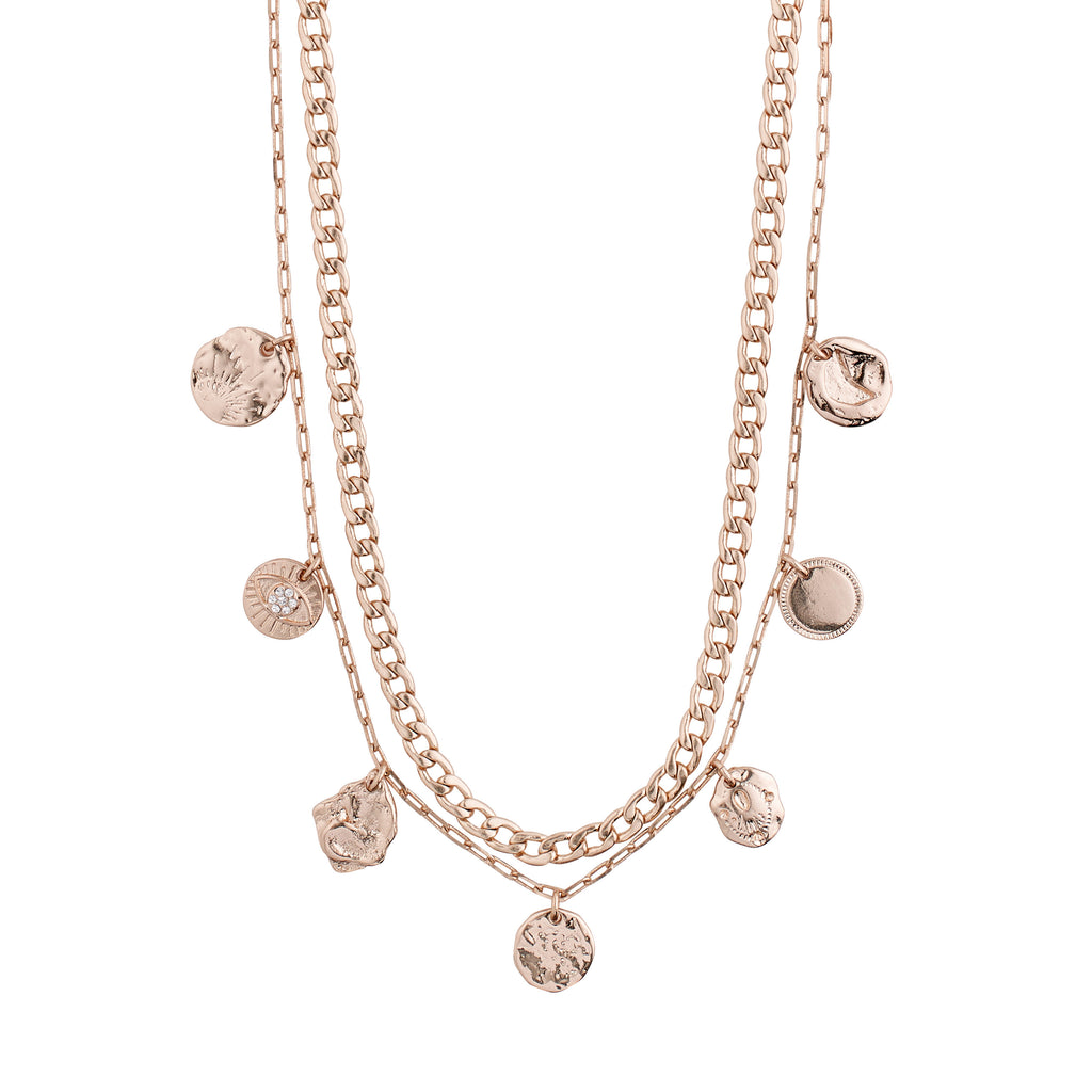 Necklace : Poesy : Rose Gold Plated : Crystal