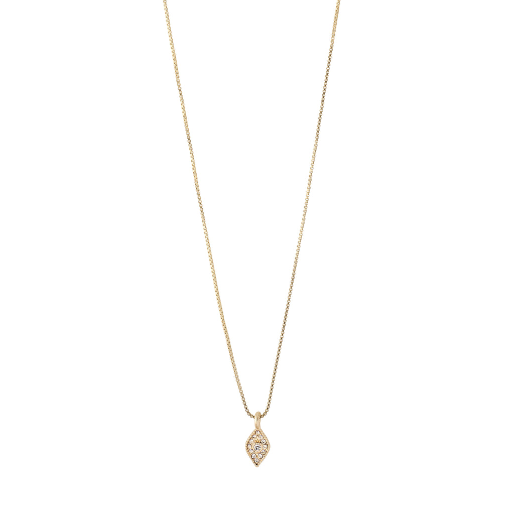 Necklace : Sincerity : Gold Plated : Crystal