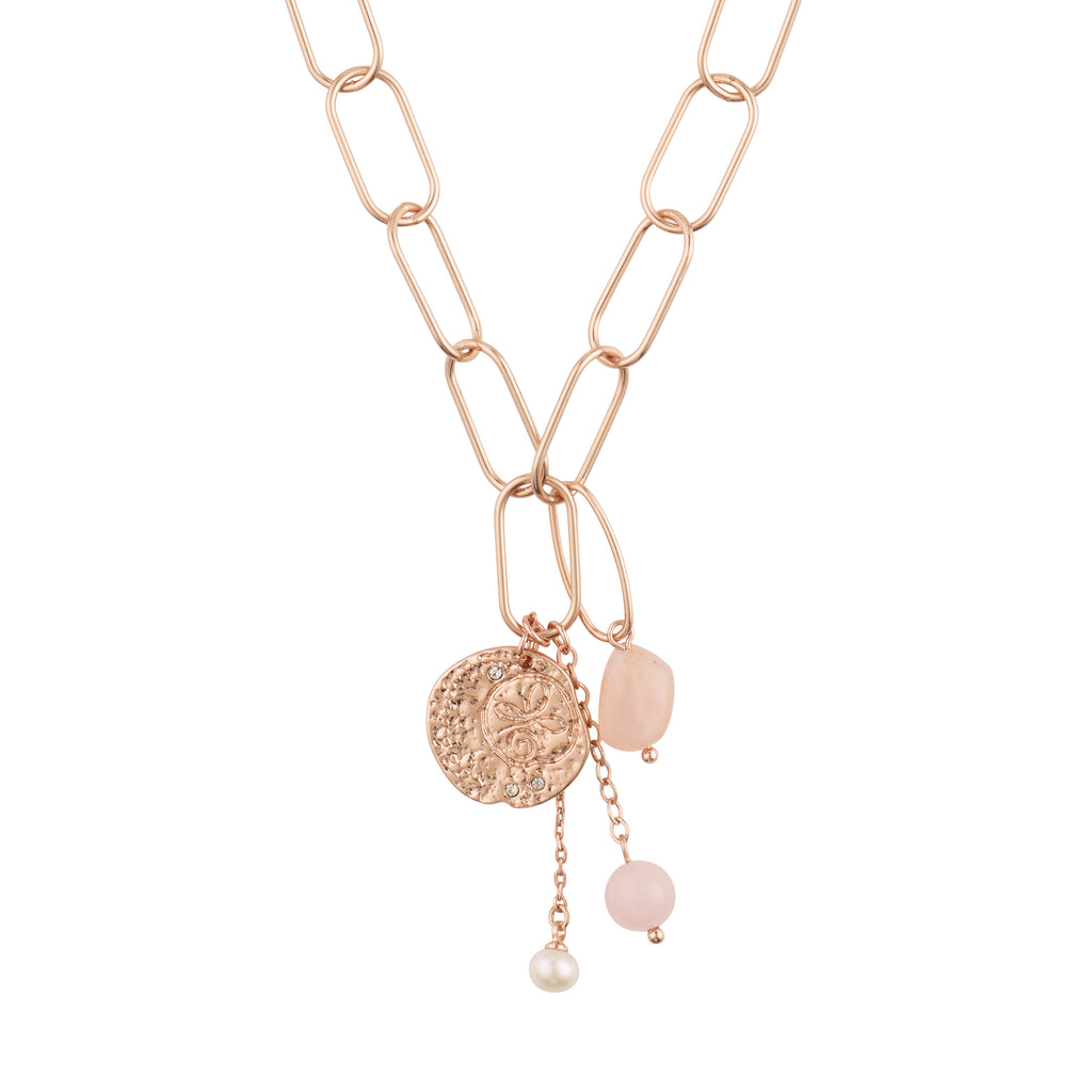 Necklace : Warmth : Rose Gold Plated : Rose