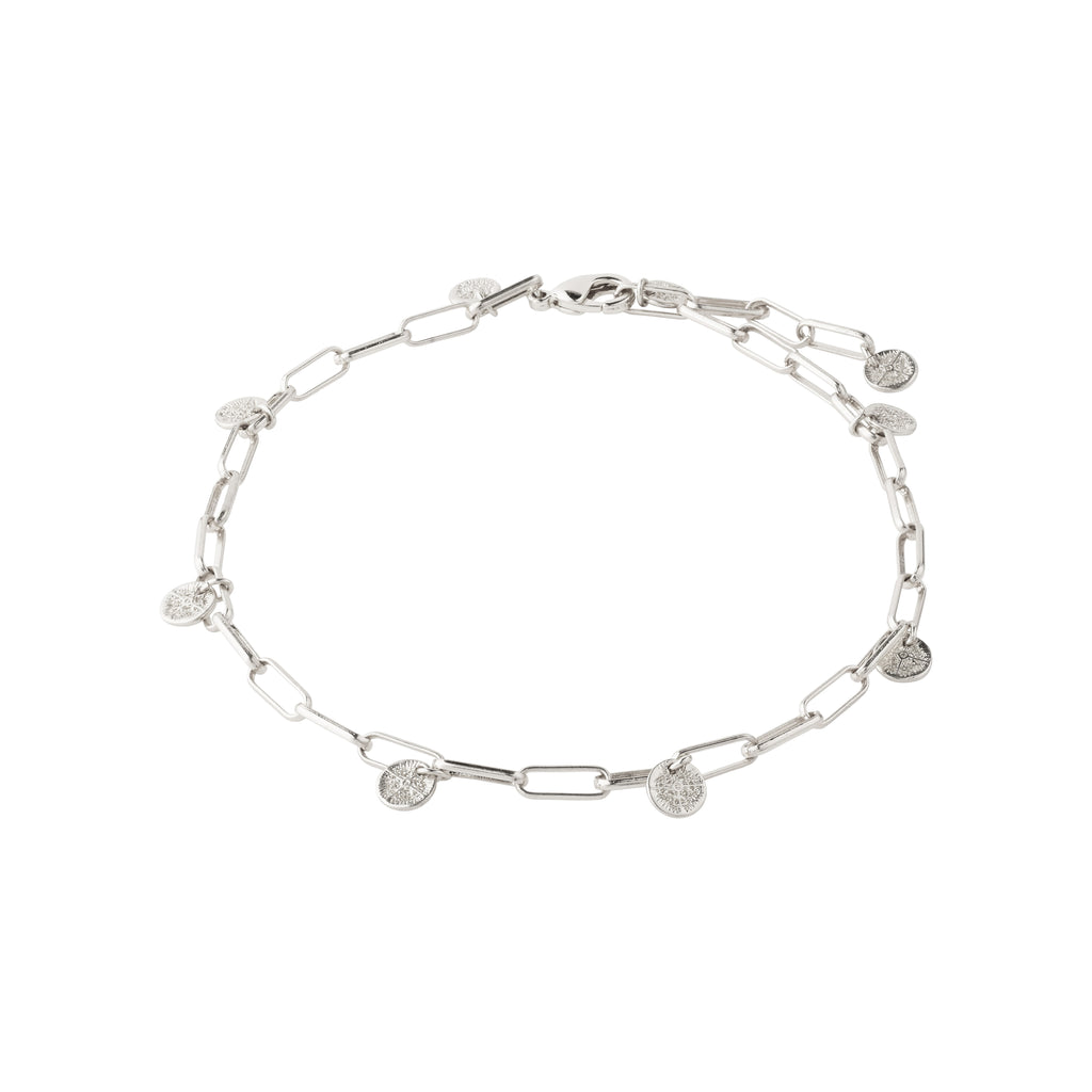 Ankle chain : River : Silver Plated
