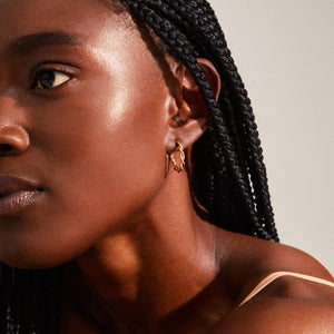 Earrings : Naja : Gold Plated