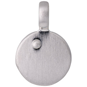 Pendant : Letter pendant : Silver Plated : A