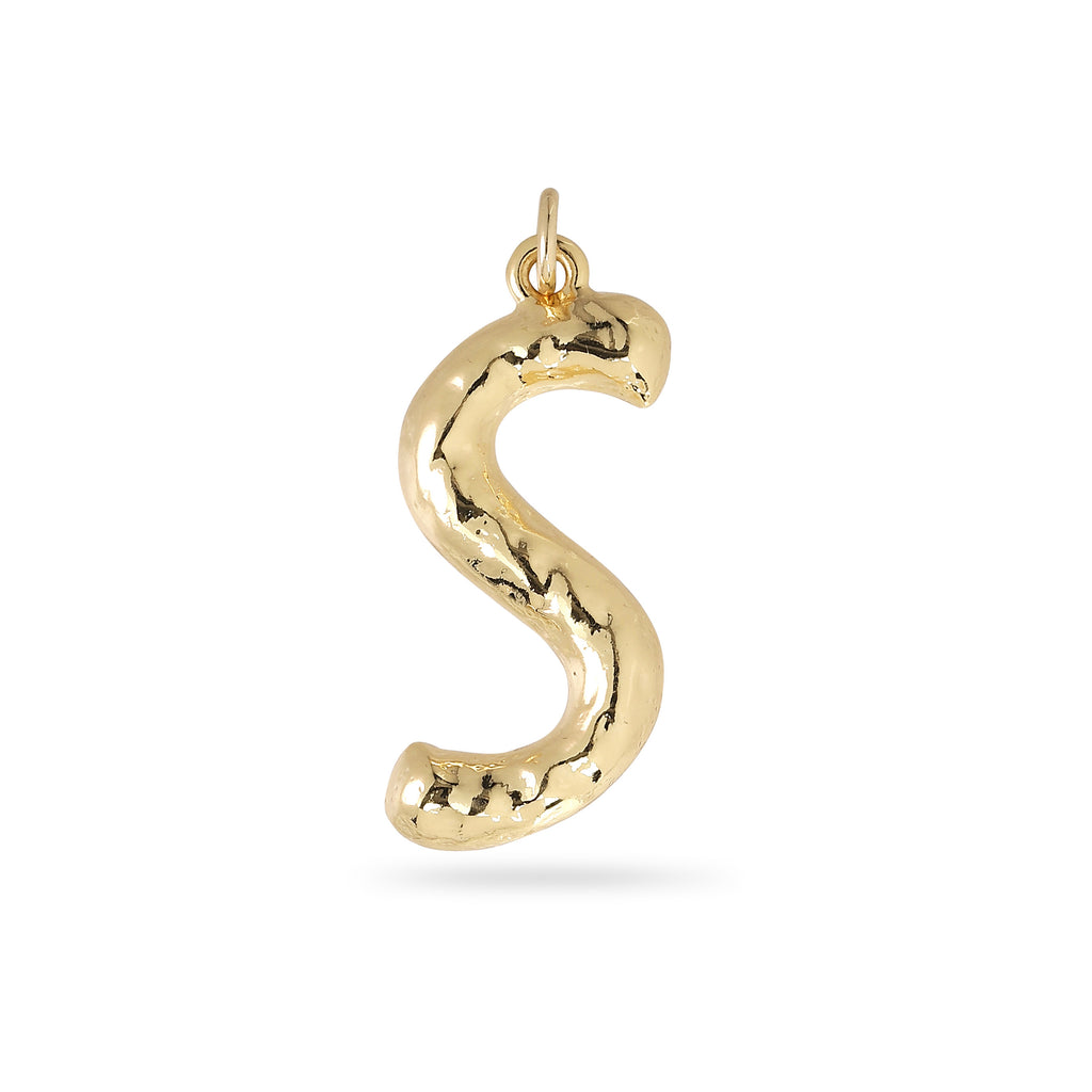 Pendant : Big letter pendant : Gold Plated : S