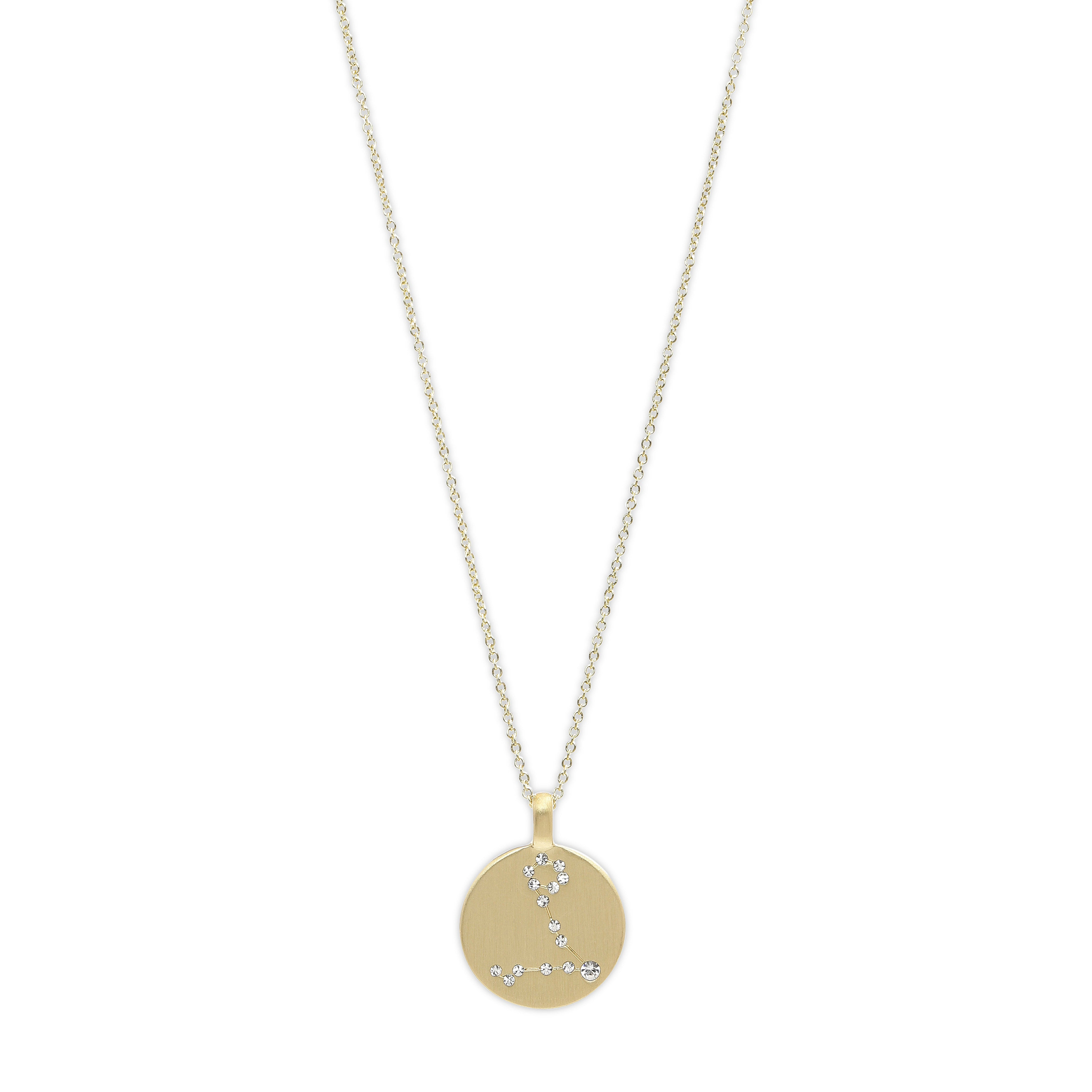 Necklace : PISCES Horoscope : Gold Plated : White