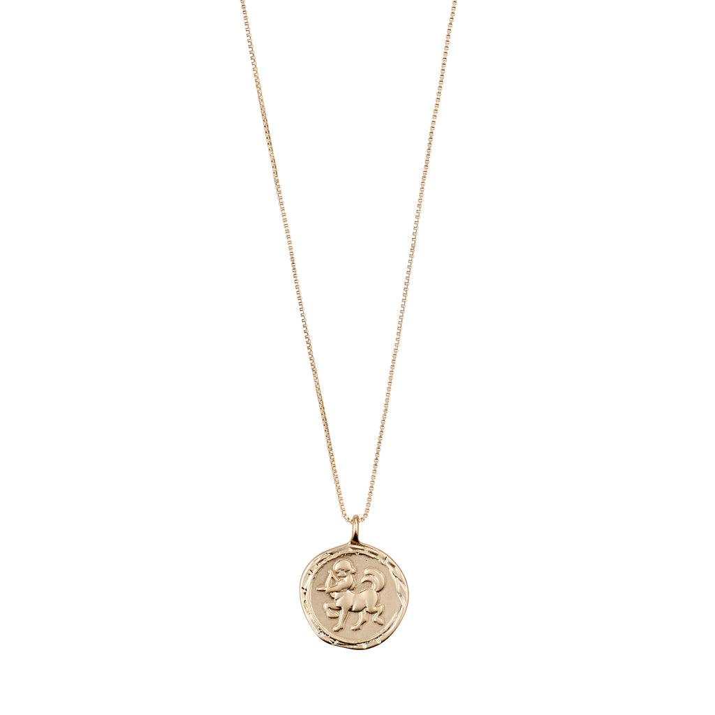 Necklace : Sagittarius Zodiac Sign : Gold Plated : Multi