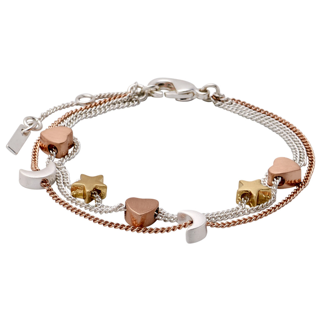 Bracelet : Anna : Mix Metal Plated