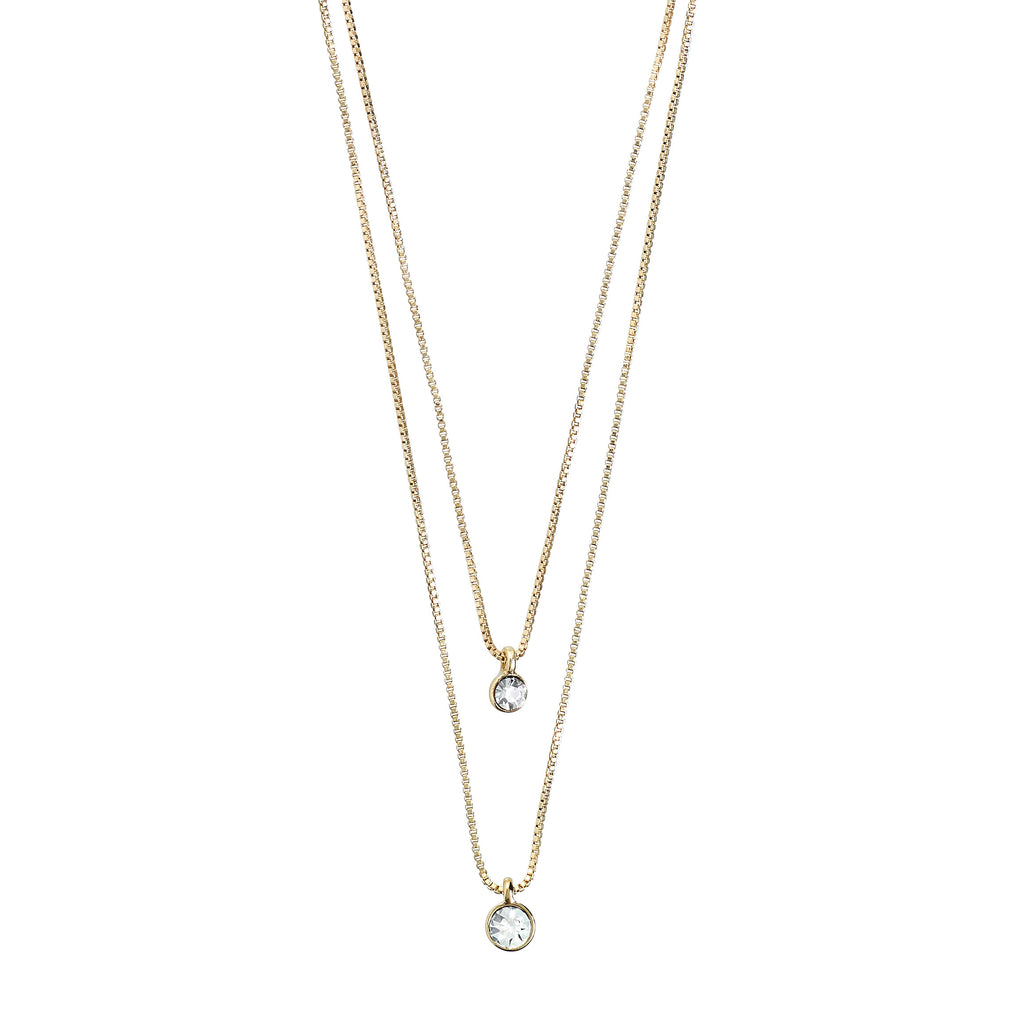 Necklace : Lucia : Gold Plated : Crystal