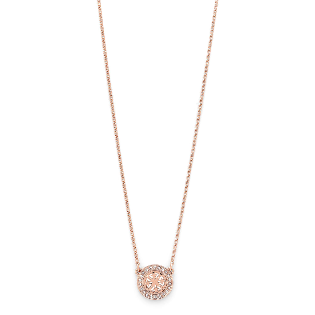 Necklace : Henrietta : Rose Gold Plated : Crystal