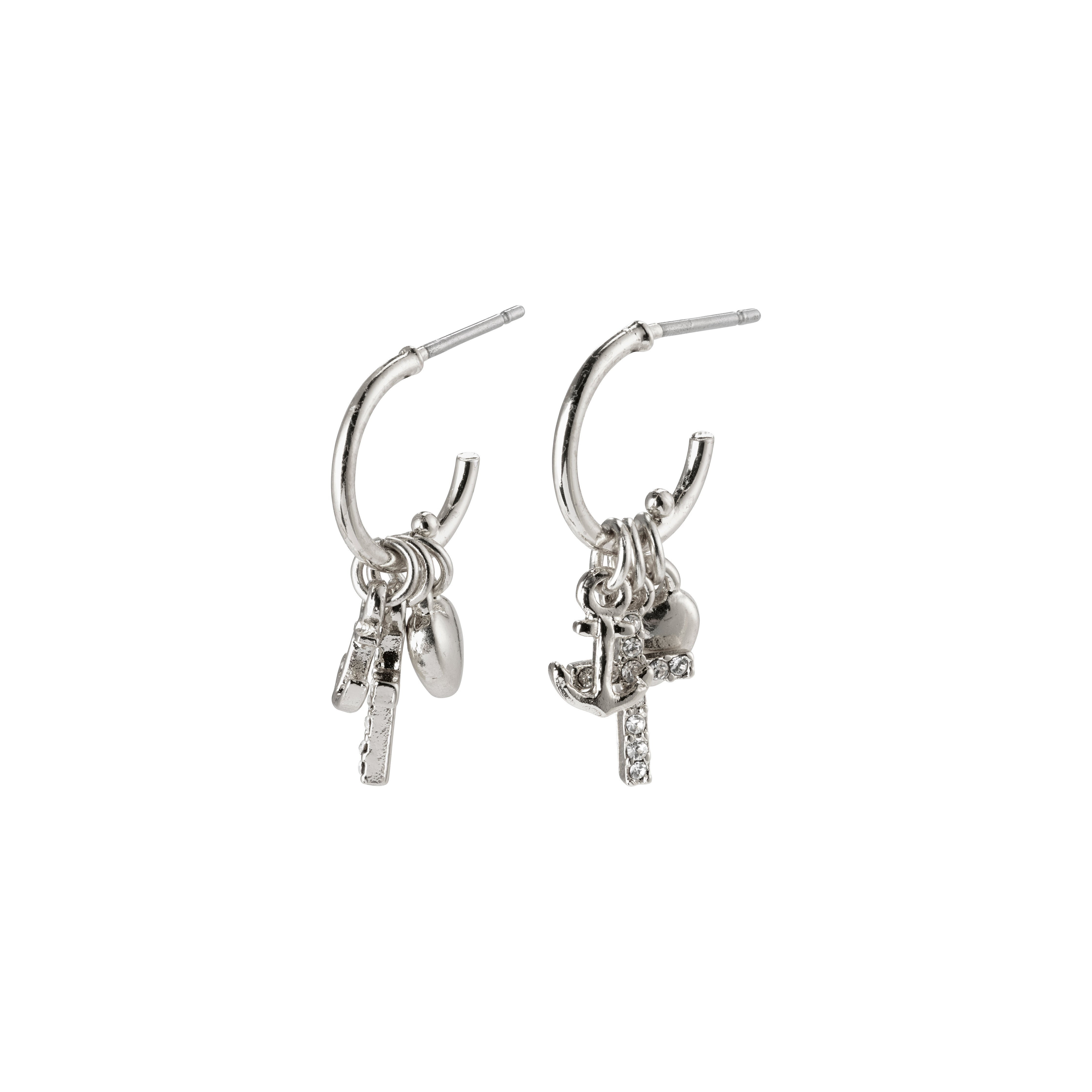 Earrings : Anet : Silver Plated : Crystal