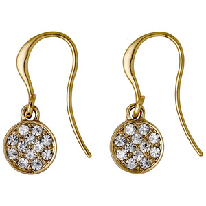 Earrings : Grace_PI : Gold Plated : Crystal
