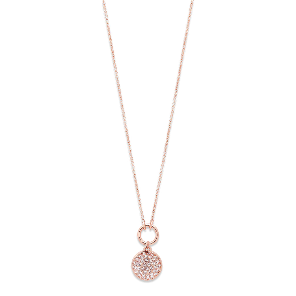 Necklace : Heather : Rose Gold Plated : Crystal