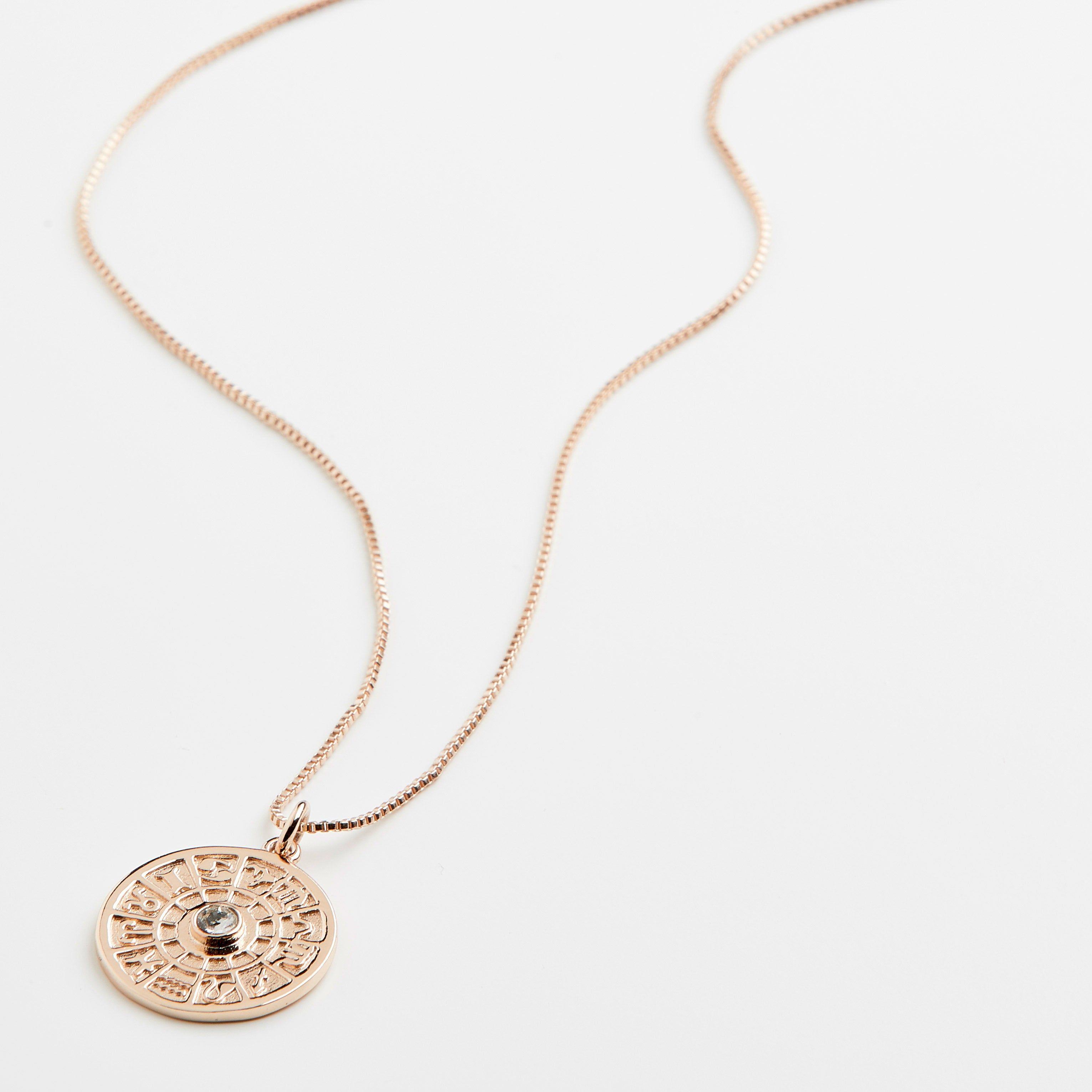Necklace : Fia : Rose Gold Plated : Crystal