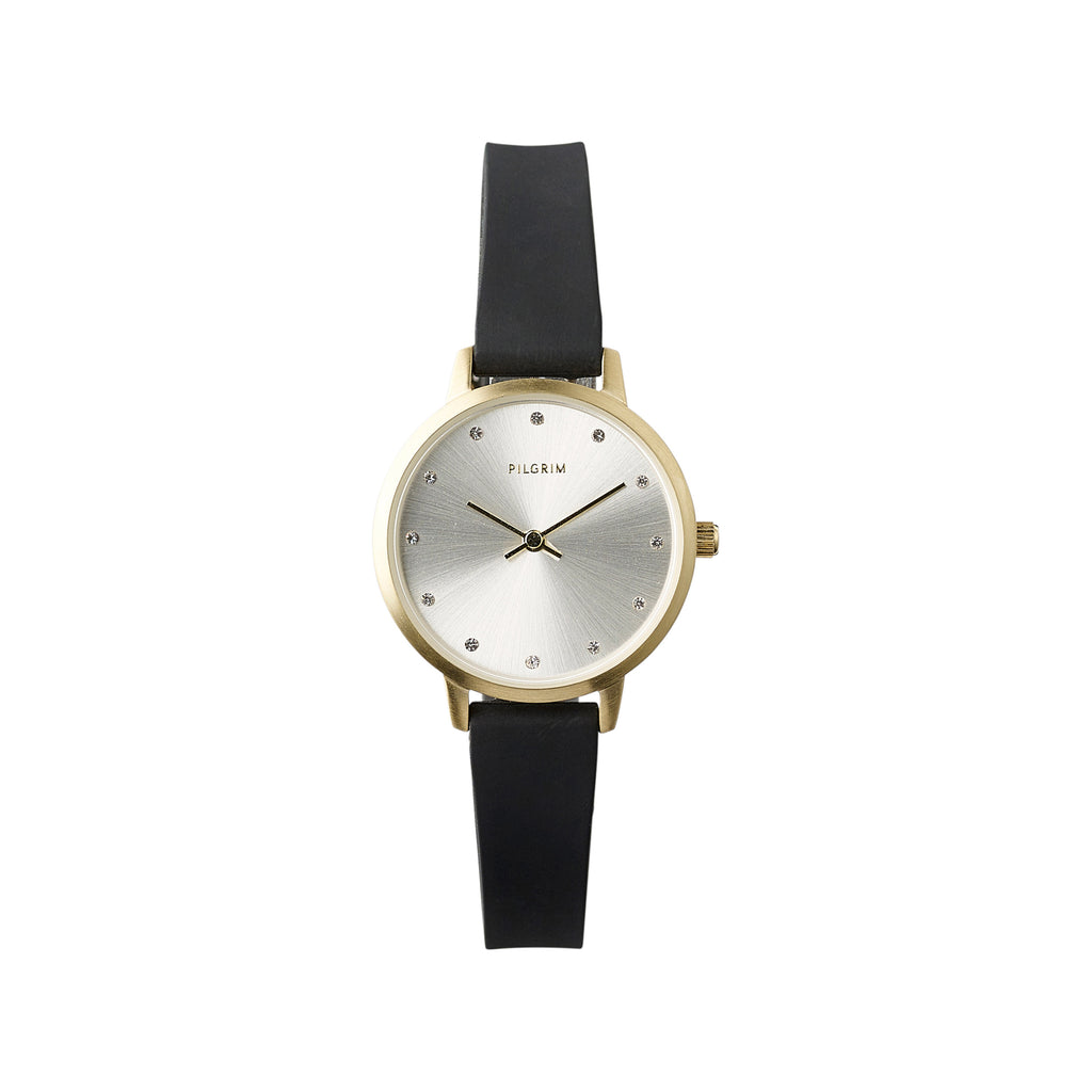 Watch : Naima : Gold Plated : Black
