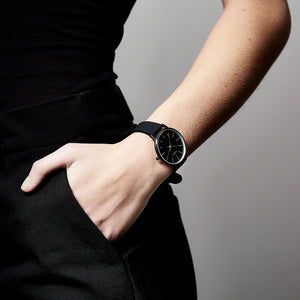 Watch : Dalia : Hematite Color : Black