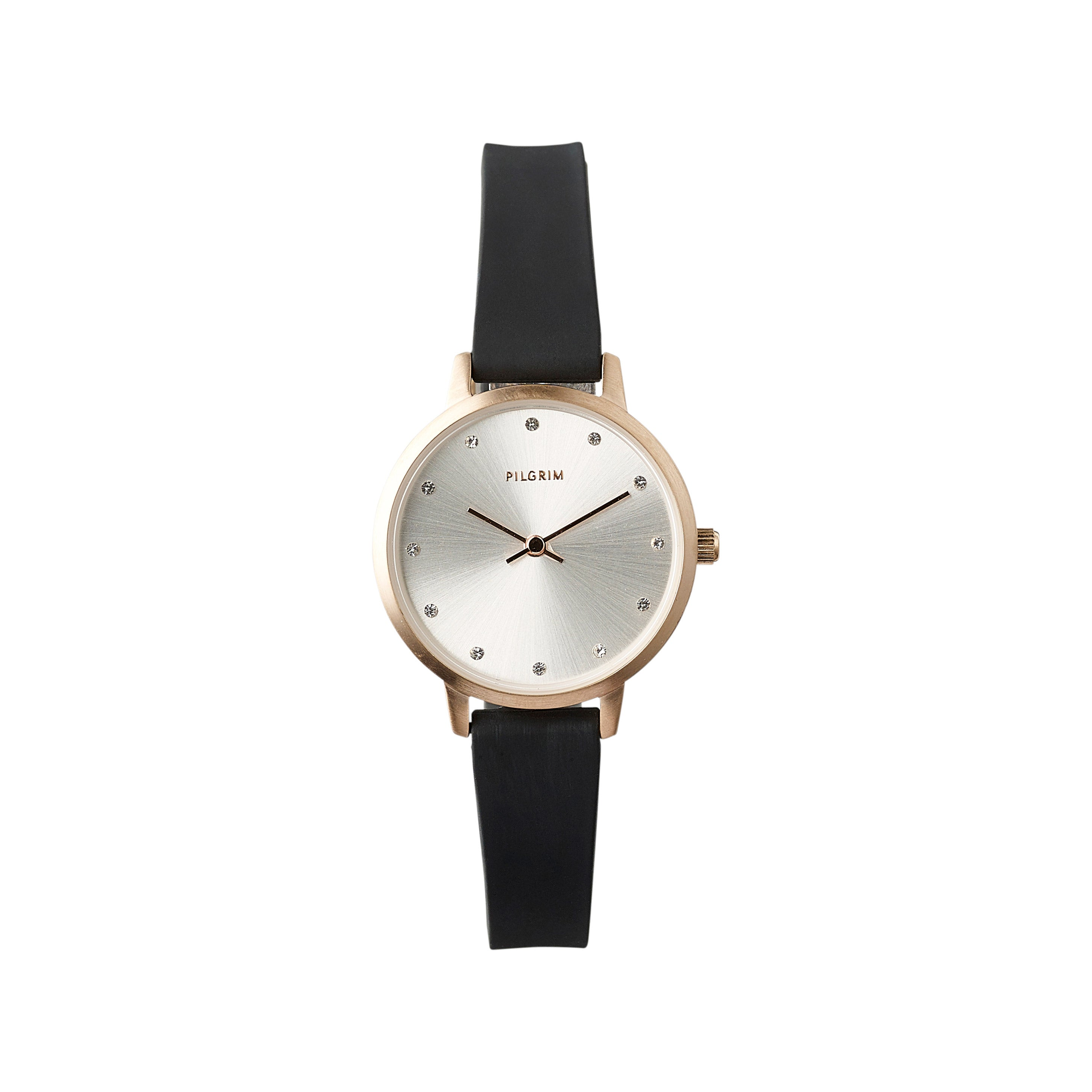 Watch : Naima : Rose Gold Plated : Black
