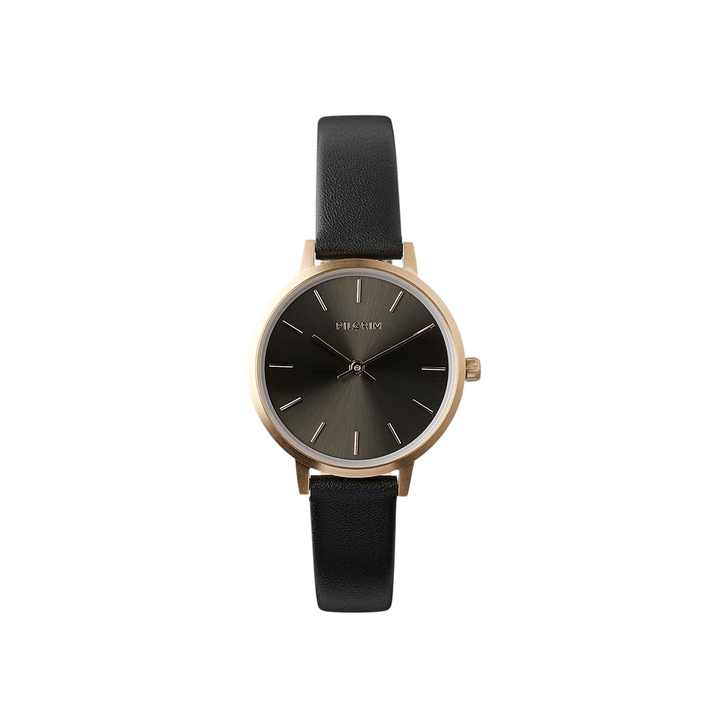 Watch : Nerine : Rose Gold Plated : Black