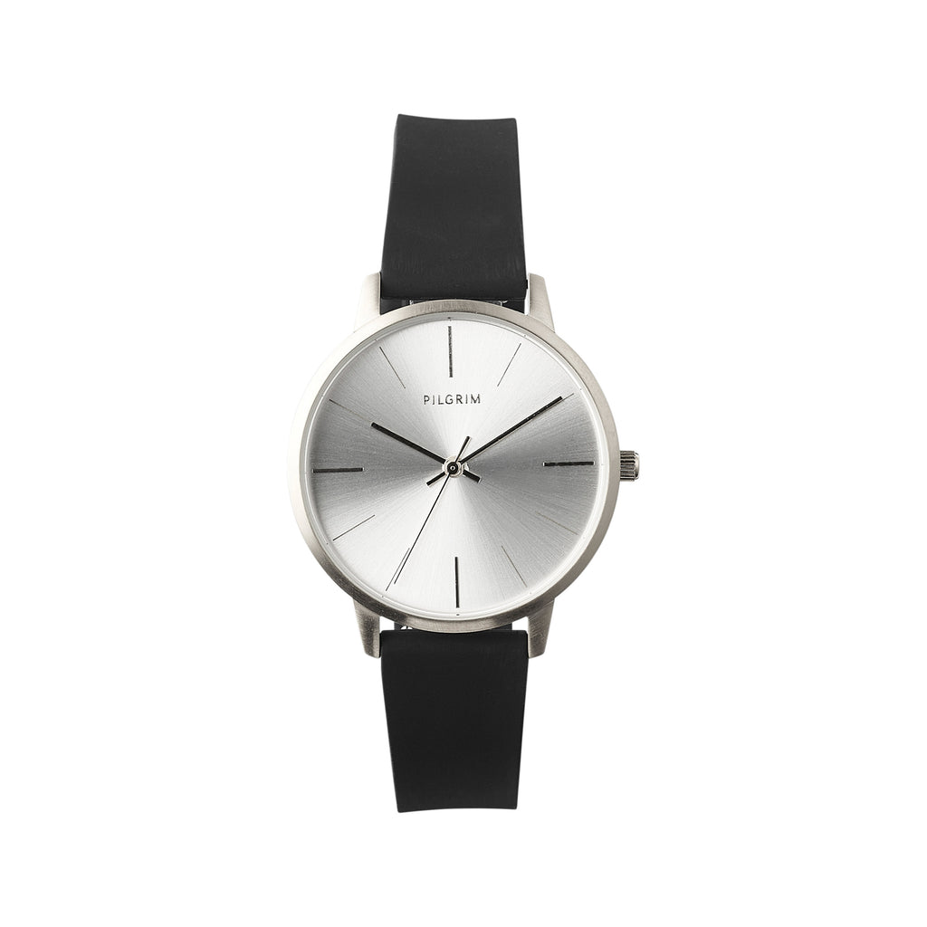 Watch : Dalia : Silver Color : Black