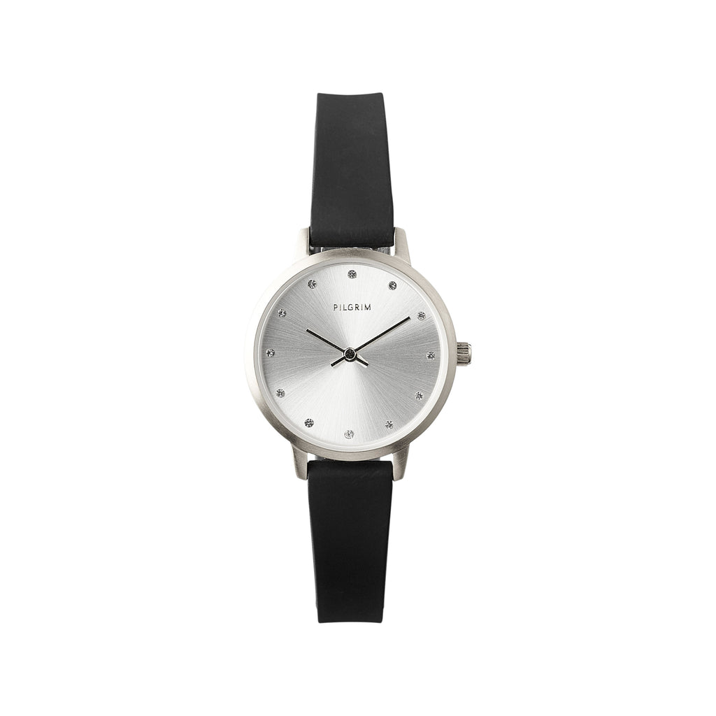 Watch : Naima : Silver Color : Black