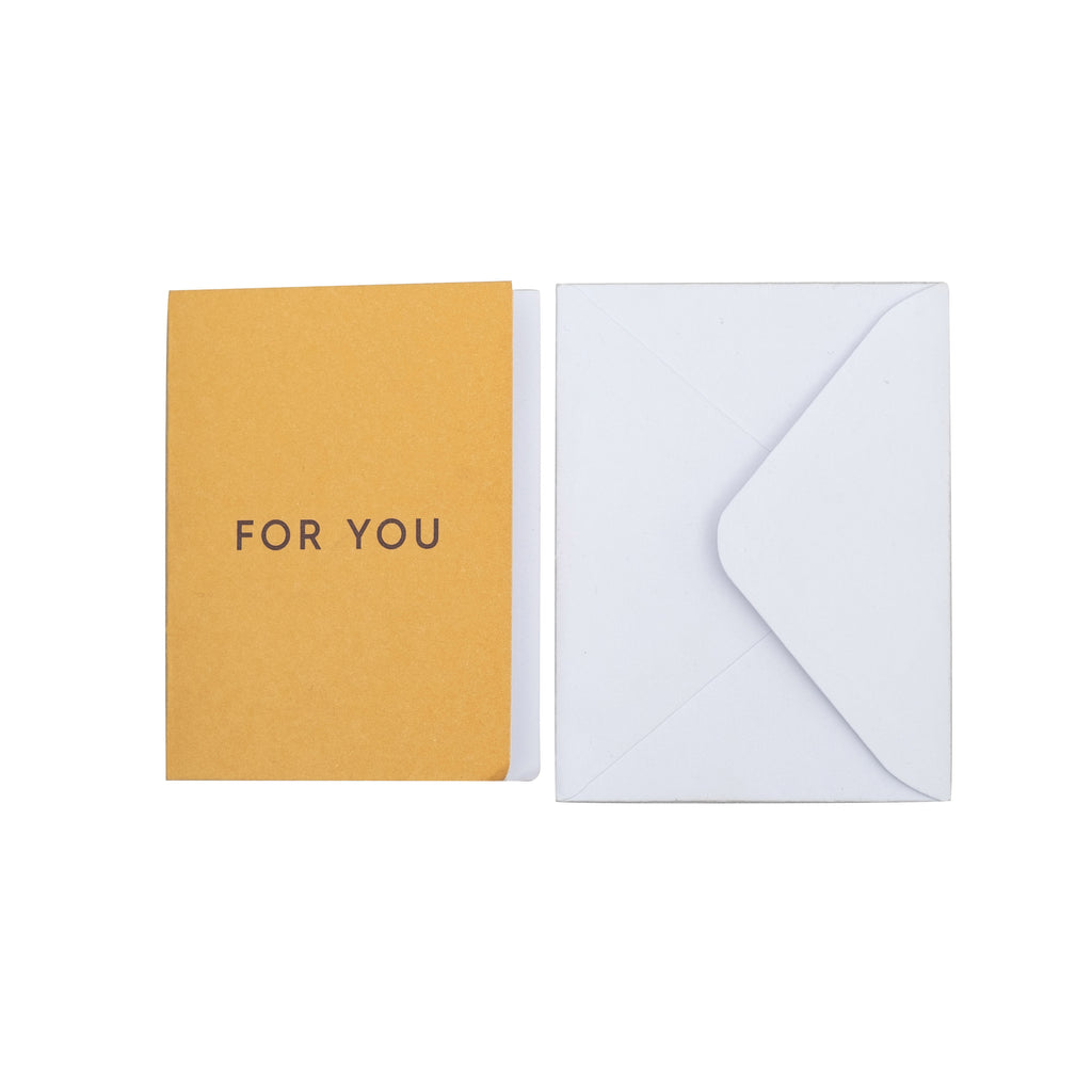 "Greeting card, ""For you"" with envelope"